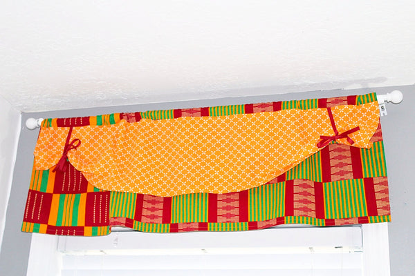Nursery Valance curtains, African curtains