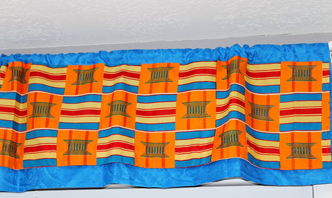 Nursery Valance curtains, Home decor, African Kente