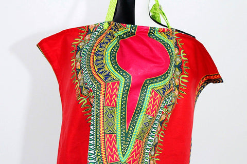 Dashiki nursing cover-Rouge
