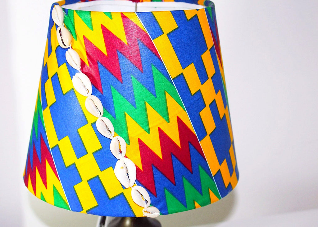 Kente Lampshade African lampshade-Cowrie