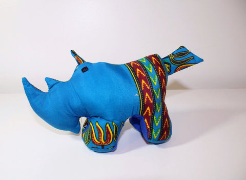 Dashiki print Stuffed animal, rhino