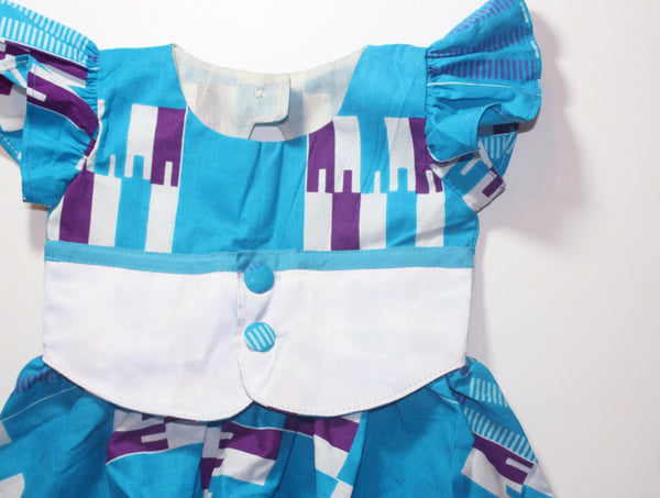 Kente Toddler dress, party dress-Celebration