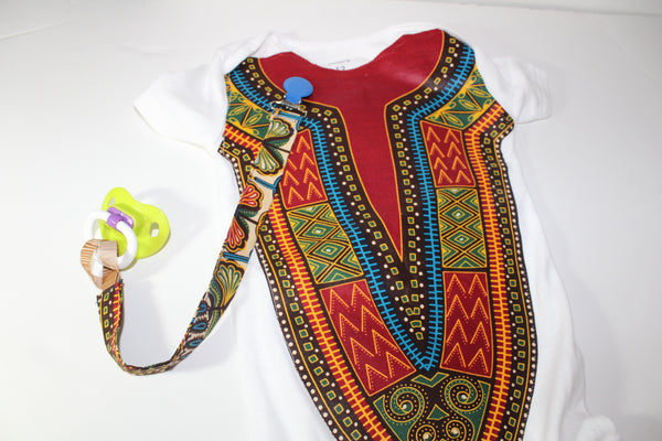 Dashiki bodysuit-Cafe