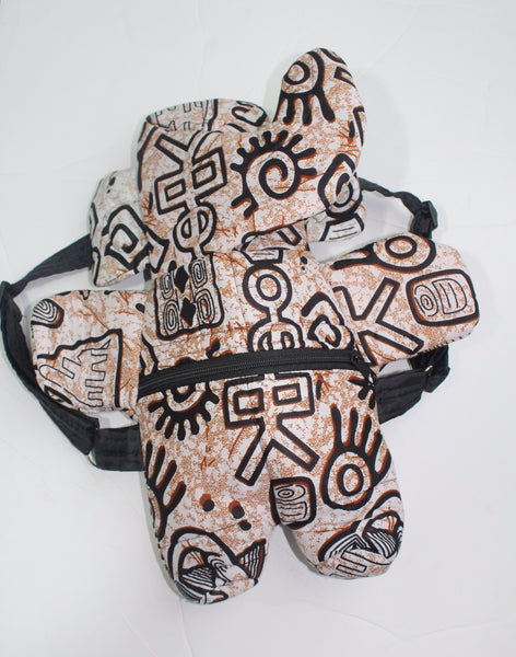 African Print Toddler backpack, school pack, baby backpack mini -CFA