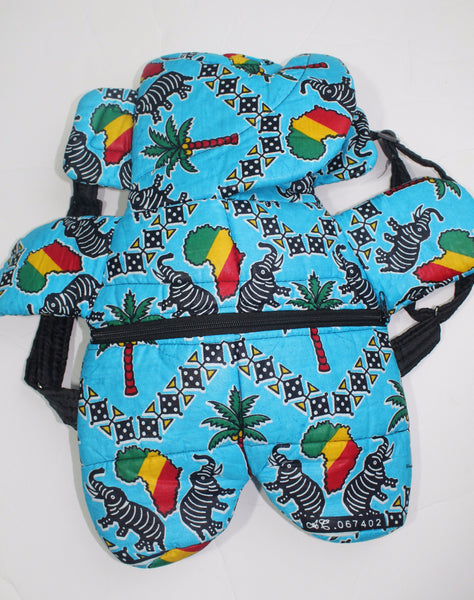 Toddler African print backpack-Plage