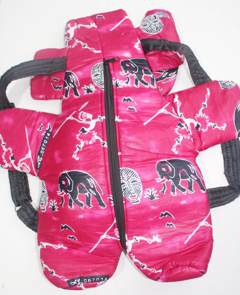 African Print Toddler backpack, school pack-Fuchsia