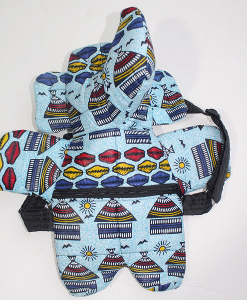 African Print Toddler backpack, school pack, baby bag mini school bag-case