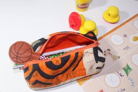 Pencil case Pencil bag pen pouch-Tiger