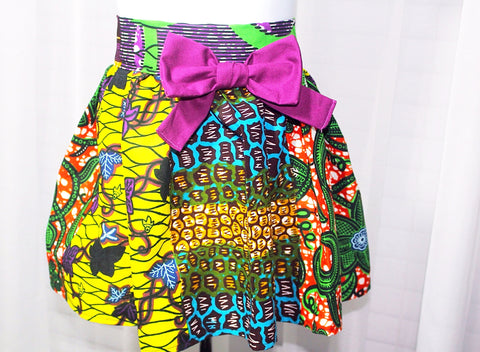 Ankara girl skirt, high waist girl skirt-Couleurs