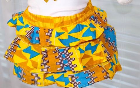 African print girl clothing set-Snowflake