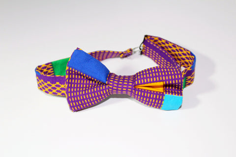 Ankara bow tie, African print bow tie-Illusion