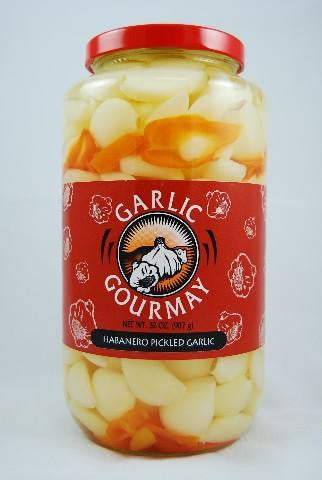 Habanero Pickled Garlic 32oz.