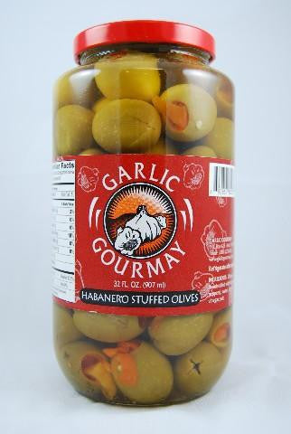 Habanero Stuffed Olives 32oz.