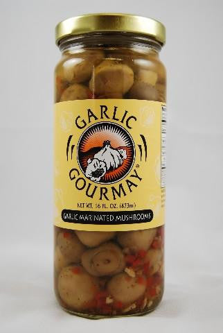 Garlic Marinated Mushrooms 16oz. (4 Pack)