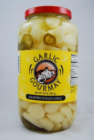 Jalapeno Pickled Garlic 32oz. (4 Pack)