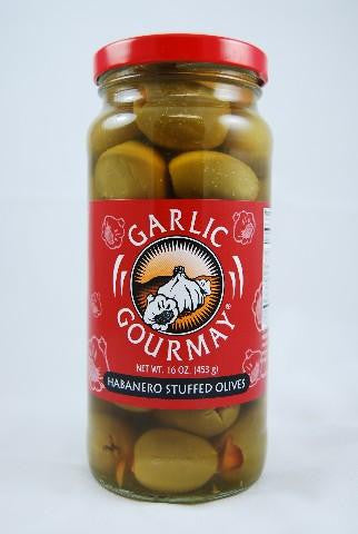 Habanero Stuffed Olives 16oz. (6 pack)