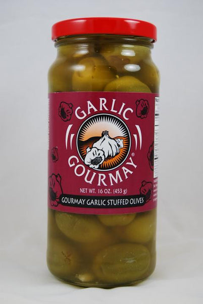 Gourmay Garlic Stuffed Olives 16oz. (6 pack)