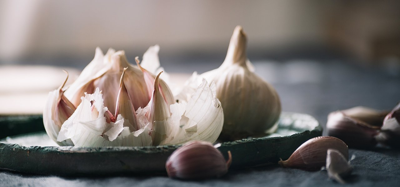 Garlic spices, foods and accessories