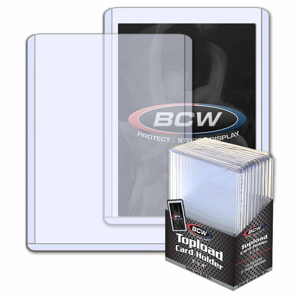 Thick Card Topload  Holder - 138 Pt. 10 Ct. Pack Max Limit 5 PER ORDER