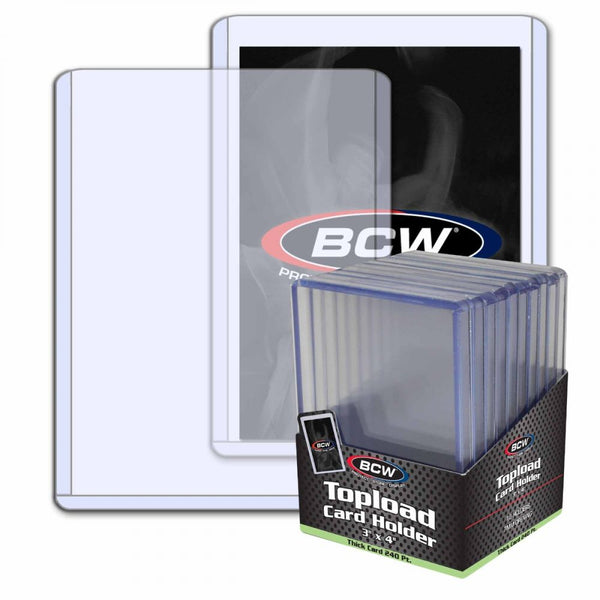 Thick Card Topload  Holder - 240 Pt. 10 Ct. Pack
