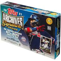 2021 Archives Signature Series Active Player Edition Baseball Hobby Box