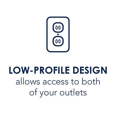 Low-Profile Design allows access to both of your outlets