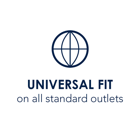 Universal Fit on all standard outlets