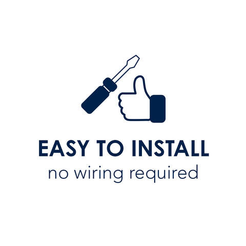 Easy to Install no wiring required