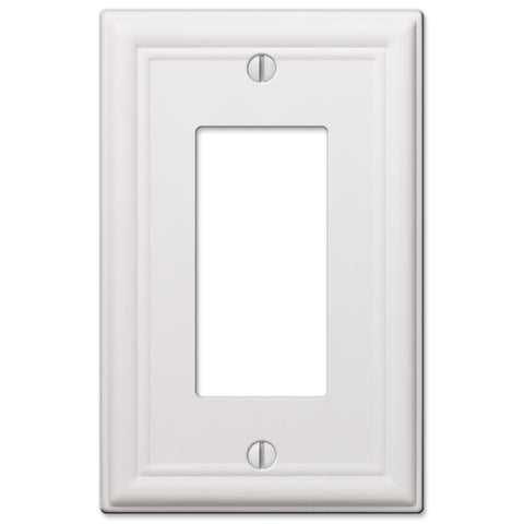 Chelsea White Steel - 1 Rocker Wallplate | 149RW