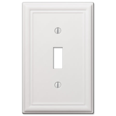 Chelsea White Steel - 1 Toggle Wallplate | 149TW