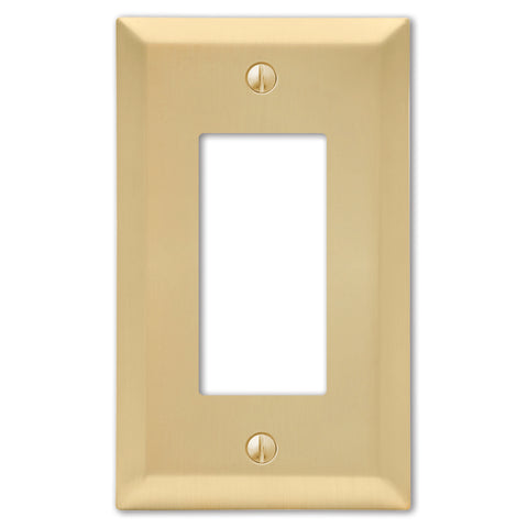Century Satin Brass Steel - 1 Rocker Wallplate | 163RSB