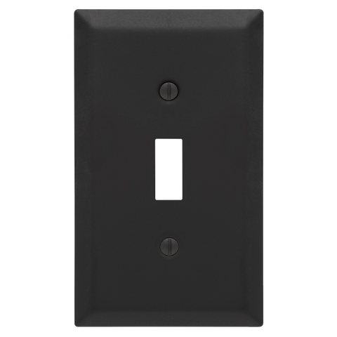 Century Stamped Steel Matte Black - 1 Toggle Wallplate | 163TMB