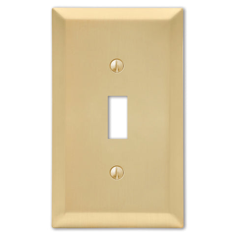 Century Satin Brass Steel - 1 Toggle Wallplate | 163TSB