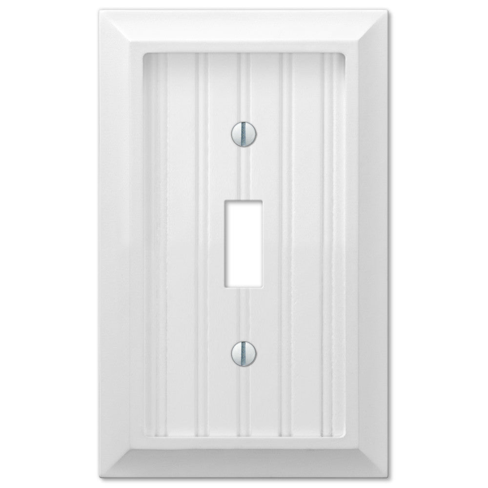 White & Almond Wallplates
