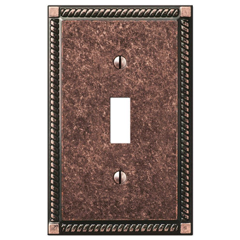 Georgian Tumbled Aged Bronze Cast - 1 Toggle Wallplate | 54TAZ