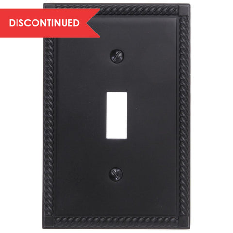 Georgian Oil-Rubbed Bronze Cast - 1 Toggle Wallplate | 54TORB