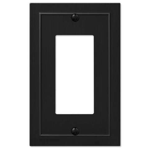 Bethany Cast Metal Matte Black - 1 Rocker Wallplate | 57RBK