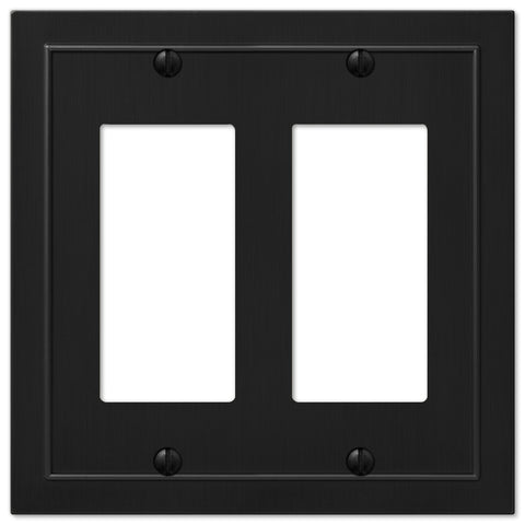 Bethany Cast Metal Matte Black - 2 Rocker Wallplate | 57RRBK