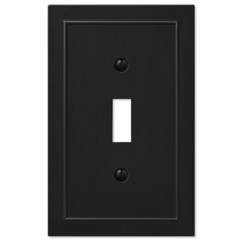 Bethany Cast Metal Matte Black - 1 Toggle Wallplate | 57TBK