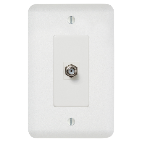 Perry Paintable - 1 Cable Jack Wallplate | 635CXW