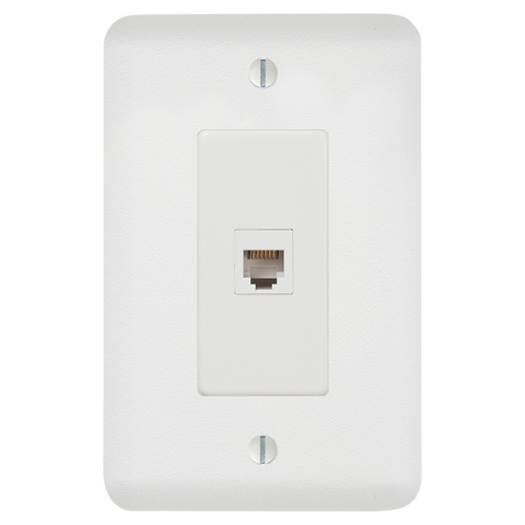Perry Paintable - 1 Phone Jack Wallplate | 635PHW
