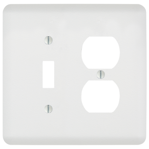 Perry Paintable - 1 Toggle / 1 Duplex Outlet Wallplate | 635TDW