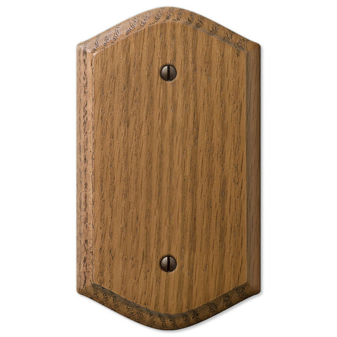 Country Medium Oak Wood - 1 Blank Wallplate