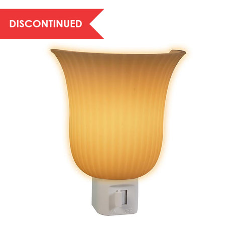 Pleated Sconce, Manual Night Light, White | 71042