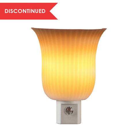 Pleated Sconce Automatic Night Light, White | 71142