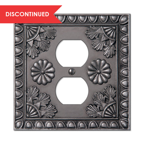 Amiens Antique Pewter Resin - 1 Duplex Outlet Wallplate | 8353DAP
