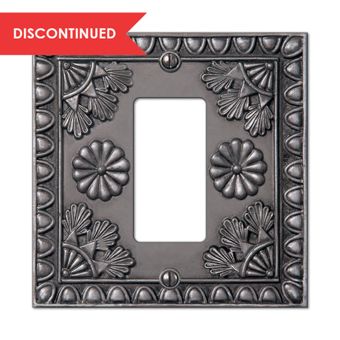 Amiens Antique Pewter Resin - 1 Rocker Wallplate | 8353RAP