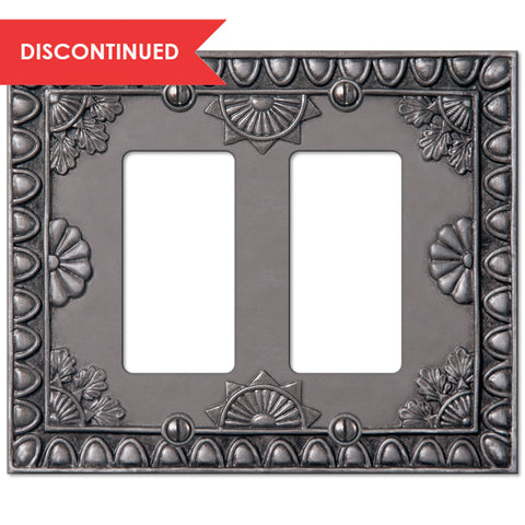 Amiens Antique Pewter Resin - 2 Rocker Wallplate | 8353RRAP