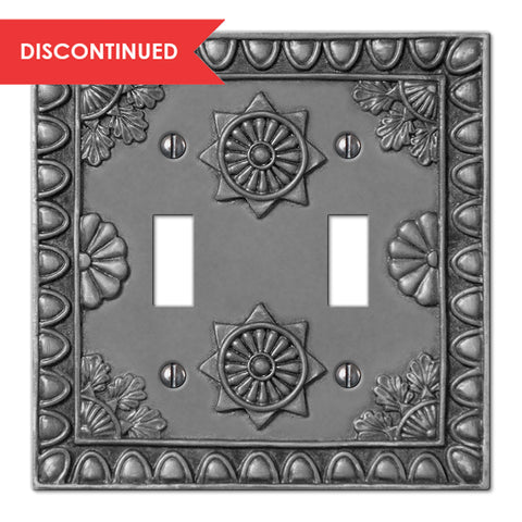 Amiens Antique Pewter Resin - 2 Toggle Wallplate | 8353TTAP