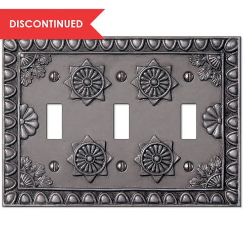 Amiens Antique Pewter Resin - 3 Toggle Wallplate | 8353TTTAP